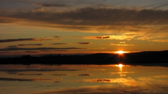 Watching the sunset in Tetlin, AK